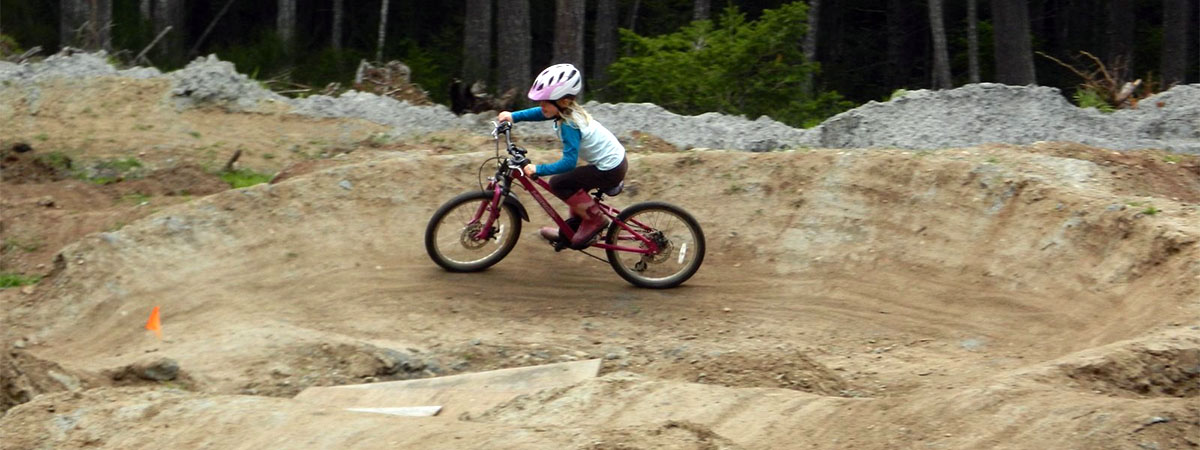 Little ripper shredding the pump track berm!